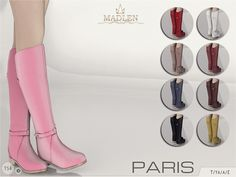 Beautiful leather riding boots! Come in 9 colours (leather texture). Found in TSR Category 'Sims 4 Shoes Female'