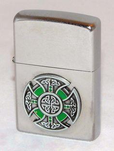 https://flic.kr/p/CKFitg   Zippo Cigarette Lighter With Celtic Cross, Made In…