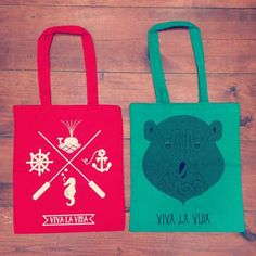 #SAILOR AND #BEAR TOTE BAGS! :)
