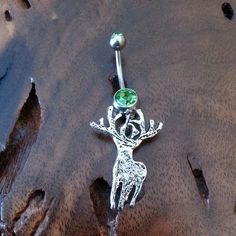 Big Buck Deer Belly Ring for the Hunting Country Girl https://www.etsy.com/shop/GunPowderWoman