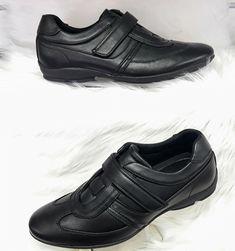 Heren Zwarte Sneakers met Klittenbanden