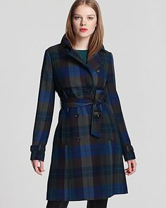 Theory Coat - Giora Invictus Plaid
