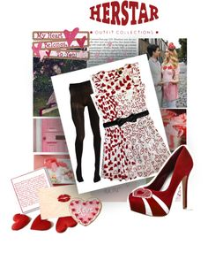 """""""HERSTAR Valentine's Day Outfit"""" by missmelika on Polyvore"""