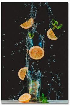Trademark Global Dina Belenko 'Colors Of Summer' Canvas Art - 47 x 30 x 2 Splash Photography, Fruit Photography, Still Life Photography, Cocktail Photography, Cooking Photography, Action Photography, Splash Fotografia, Still Life Images, Foto Art