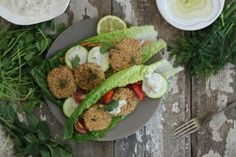 Nutrition Stripped | Herb Falafel and Tzatziki {vegan} | http://nutritionstripped.com