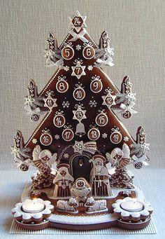 Christmas Sugar Cookies, Christmas Gingerbread, Christmas Treats, Cupcake Cakes, Cupcakes, Fondant Animals, Christmas Calendar, Cookie Decorating, Amazing Cakes