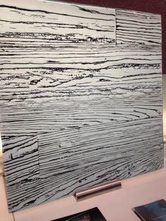 We are CRAZY for all things Joel Berman Glass @Joel Berman. Amazing showroom this year, filled with products like Plank, with color options such as the black and white featured here.