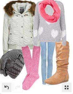 Pink winter outfit minus the beanie, perfect! ariana grande much? Just like a lot of my other pins on their board http://www.lrpvcgi.com $89.99 cheap ugg boots, ugg shoes 2015, fashion winter shoes