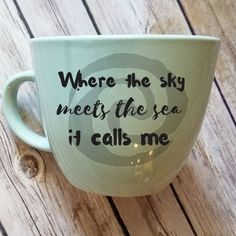 Where the sky meets the Sea Coffee Mug -Hardware Only, 16 Oz #CoffeeArt