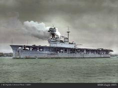 The British carrier Eagle. She was originally the Chilean battleship Almirante Cochrane, but was purchased on the stocks by the English during WWI. She was the converted into an aircraft carrier. She was torpedoed by U-73 during an operation pedestal convoy in the Med in 1942