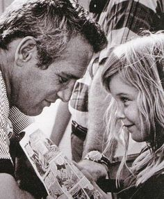 Paul Newman avec sa fille Nell 1968