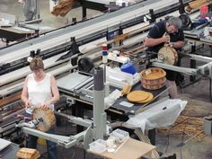 Longaberger factory in Ohio.  All longaberger baskets are hand-woven.  Made in the USA