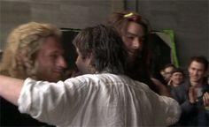 Dean O'Gorman and Aidan Turner | Dean O'Gorman, Aidan Turner, and Peter Jackson - the-hobbit Photo