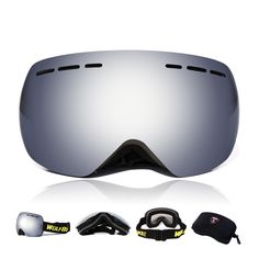 Professional Ski Glasses Anti-fog Double Layers uv400 Cycling Bicycle Glasses Unisex Snow Snowboard Goggles