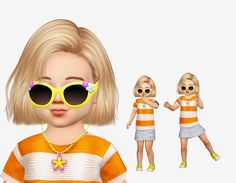 Sims 4 CC's - The Best: Necklace and Glasses converted from Child to Toddl. The Sims 4 Kids, Sims 4 Children, Sims 4 Toddler, Sims 4 Cas, Sims Cc, Toddler Necklace, Sims 4 Cc Makeup, The Sims4, Sims 4 Custom Content
