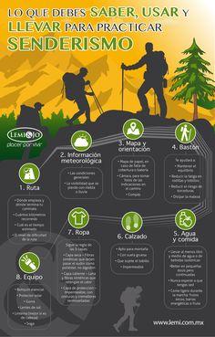 Infografía: Lo que debes saber, usar y llevar para practicar #senderismo…