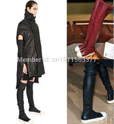 オーウェンは、雪の膝のブーツの女性の靴の男性革とベルベットのファッション潮のメンズスニーカー恋人ブーツメンズ2014冬のブーツ