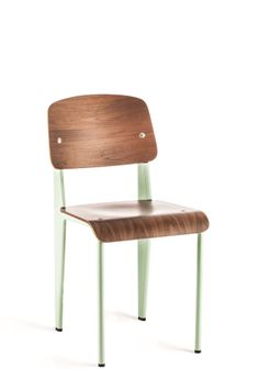 Prouve Standard Chair Peppermint on Walnut / Industry West