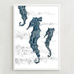 Framed Print – Seahorse #westelm