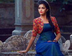 Keerthi Suresh HD Photos for free. Also get info about Keerthi Suresh Height, Weight, Wiki, Age, HD Pic.This photo gallery includes her latest photos. Shrug For Dresses, Girls Dresses, Indian Dresses, Indian Outfits, Kalamkari Dresses, Churidar Designs, Types Of Jackets, Indian Designer Wear, Indian Wear