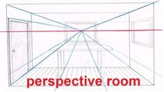 Linear Perspective Drawing Lesson 5/6 - Drawing a Room In Perspective Tu...
