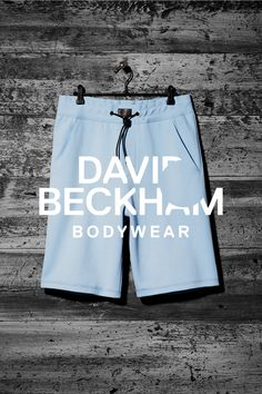 Light blue men's sweat shorts, Bodywear Selected By Beckham collection. | H&M For Men
