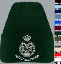 GALLERY FOR THIS REGIMENT Royal Green Jackets Beanie Hat Please use drop down boxes to select Battalion and colour. Personalisation,Wings,TRF,DZs also available. Other Items/Colours also available please contact us for info. SIZE GUIDE