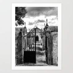 Cemetery of Porto de Mos, Portugal Art Print by Vitor Ribeiro - $12.48 The cemetery at the entrance of the castle at Porto de Mós  Portugal...