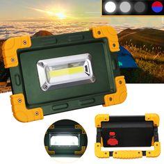 30W 3.7V LED COB faro de trabajo punto de luz de inundación recargable USB tienda cámping Lámpara