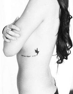 Memorial Remember Me Tattoo Quotes on Rib - Bird Tattoo