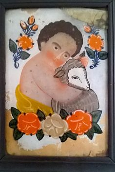 Jesus Christ Images, All Saints, Naive, Folk Art, Whimsical, Glass, Painting, Style, Religious Art