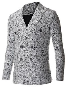 FLATSEVEN Men's Double Breasted Wool Blend Tweed Blazer Jacket with Peaked Lapel (BJ490) White, Boys 2XL FLATSEVEN http://www.amazon.com/dp/B00QCOFNX2/ref=cm_sw_r_pi_dp_lZk0ub1PFV0MK #FLATSEVEN #men #fashion #Breasted Wool