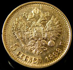 RUSSIA 1898 5 ROUBLES GOLD COIN  CO 148  russian 5 roubles gold coin, gold coin,russiian gold , 1898 gold coin