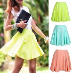 Faldas de distintos colores