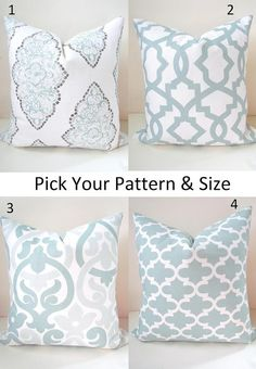 PILLOWS MIX & MATCH Blue Throw Pillow Covers by SayItWithPillows