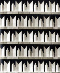 building facade of IBM by Miguel Fisac, Madrid