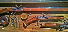 Flintlock guns, tools and accessories