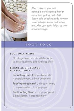 Aroma Therapy Foot Soak They sound amazing with Young living essential oils…