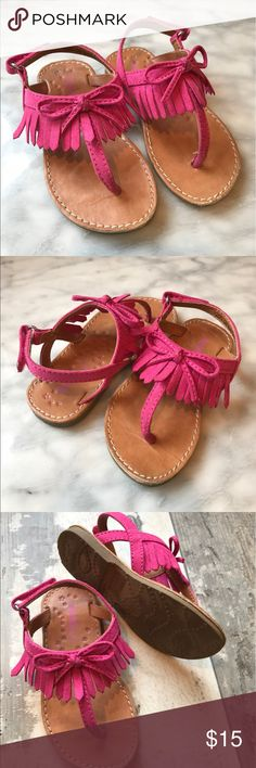 Dynasty Girls Thing Moccasin Sandal Excellent condition! Toddler girls size 7, thong flip flop/sandal. Suede upper, rubber soles. Smoke free let free home Dynasty Shoes Sandals & Flip Flops