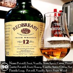 Yum I love Redbreast 12, but that's also because I love Single Pot Still Irish whiskey. The warm coppery malty flavor and aroma does something for me, it hits me just right. If you're a fan of Irish whiskey, or just whiskey in general, do yourself a favor and at least try this at some point. I think you'll be happy that you did.