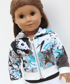 Graphic Hoodie for AG Dolls