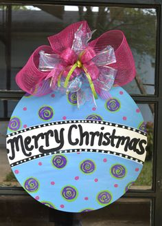 Christmas Door Hanger Decor by my friend. Check it out!