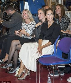 Princess Mary sat amongst teachers and staff from the school as other presentations and talks took place