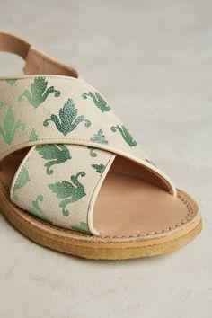 Slide View: 5: Penelope Chilvers Fleur De Lis Sandals