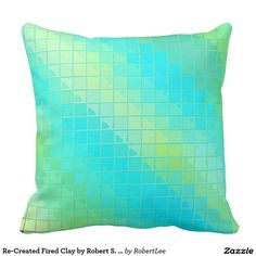 Re-Created Fired Clay by Robert S. Lee Throw Pillows #Robert #S. #Lee #pillow #art #artist #graphic #design #colors #kids #children #girls #boys #style #throw #cover #for #her #him #gift #want #need #abstract #home #office #den #family #room #bedroom #living #customizable