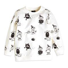 Buy Patterned Sweatshirt for at Lindex Printed Sweatshirts, Hoodies, Moomin, Clowns, Top Pattern, White Tops, Tunic Tops, Graphic Sweatshirt, Leggings