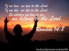 Image result for pic rom 14:8 Bible