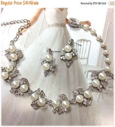 A personal favorite from my Etsy shop https://www.etsy.com/listing/183128029/bridal-jewelry-set-wedding-jewelry