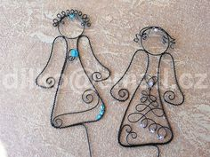 Wire Crafts, Beads And Wire, Wire Art, Deathly Hallows Tattoo, Washer Necklace, Drop Earrings, Ornaments, Metal, Diy