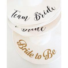 """Πλατύγυρα καπέλα """"Bride to Be"""" & """"Team Bride"""" Team Bride, Wedding, Shopping, Instagram, Valentines Day Weddings, Weddings, Marriage, Chartreuse Wedding"""